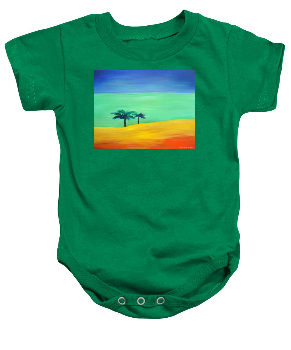 Blue Baby Onesie featuring the painting Pretty Simple by Gina De Gorna