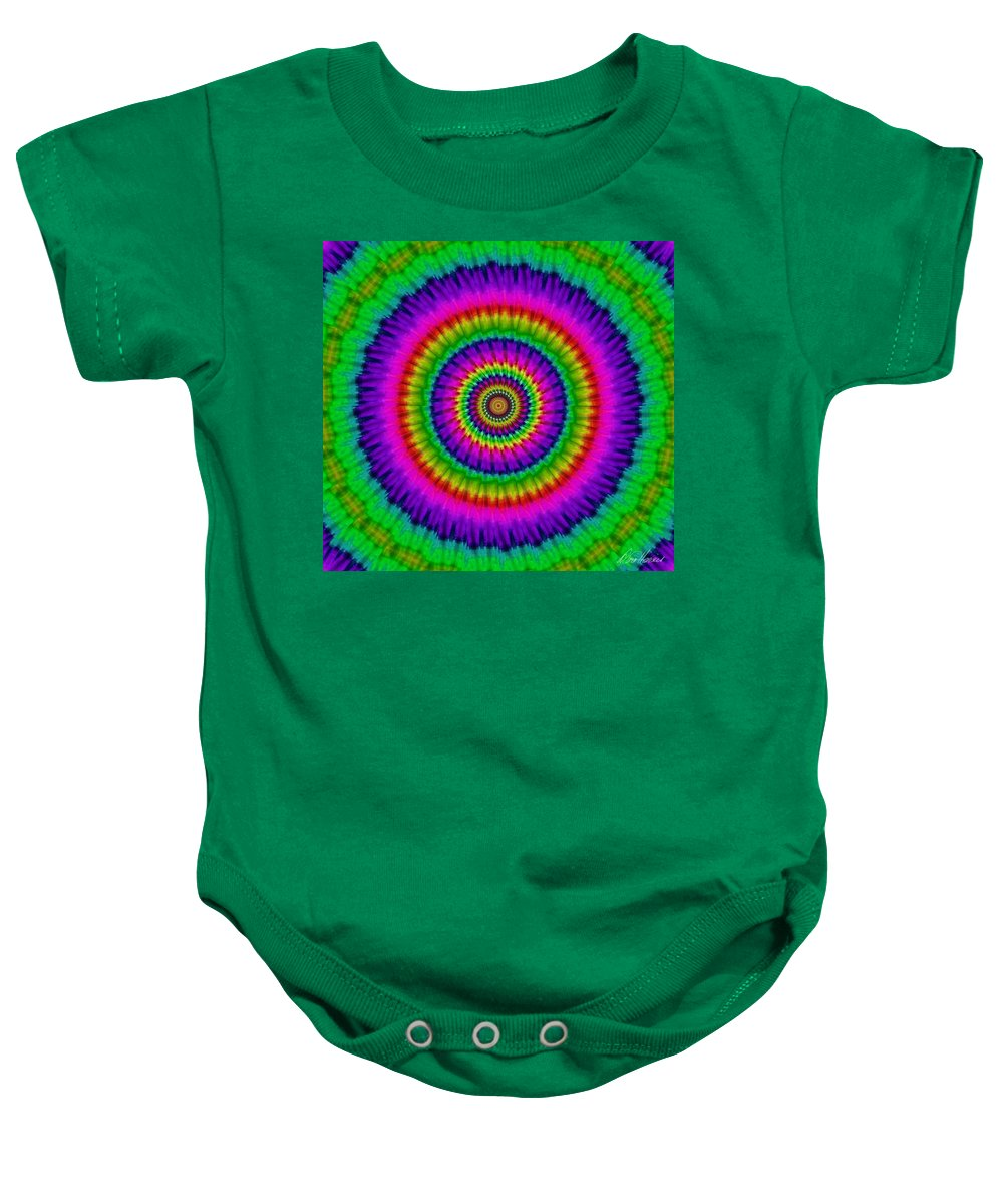 Psychedelic Baby Onesie featuring the photograph Psychedelic Journey by Diana Haronis