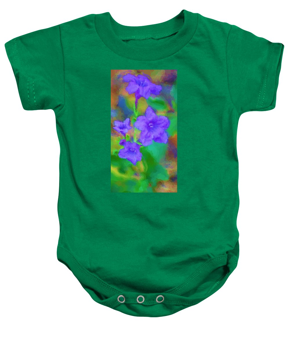 Floral Baby Onesie featuring the photograph Purple Flowers 102310 by David Lane