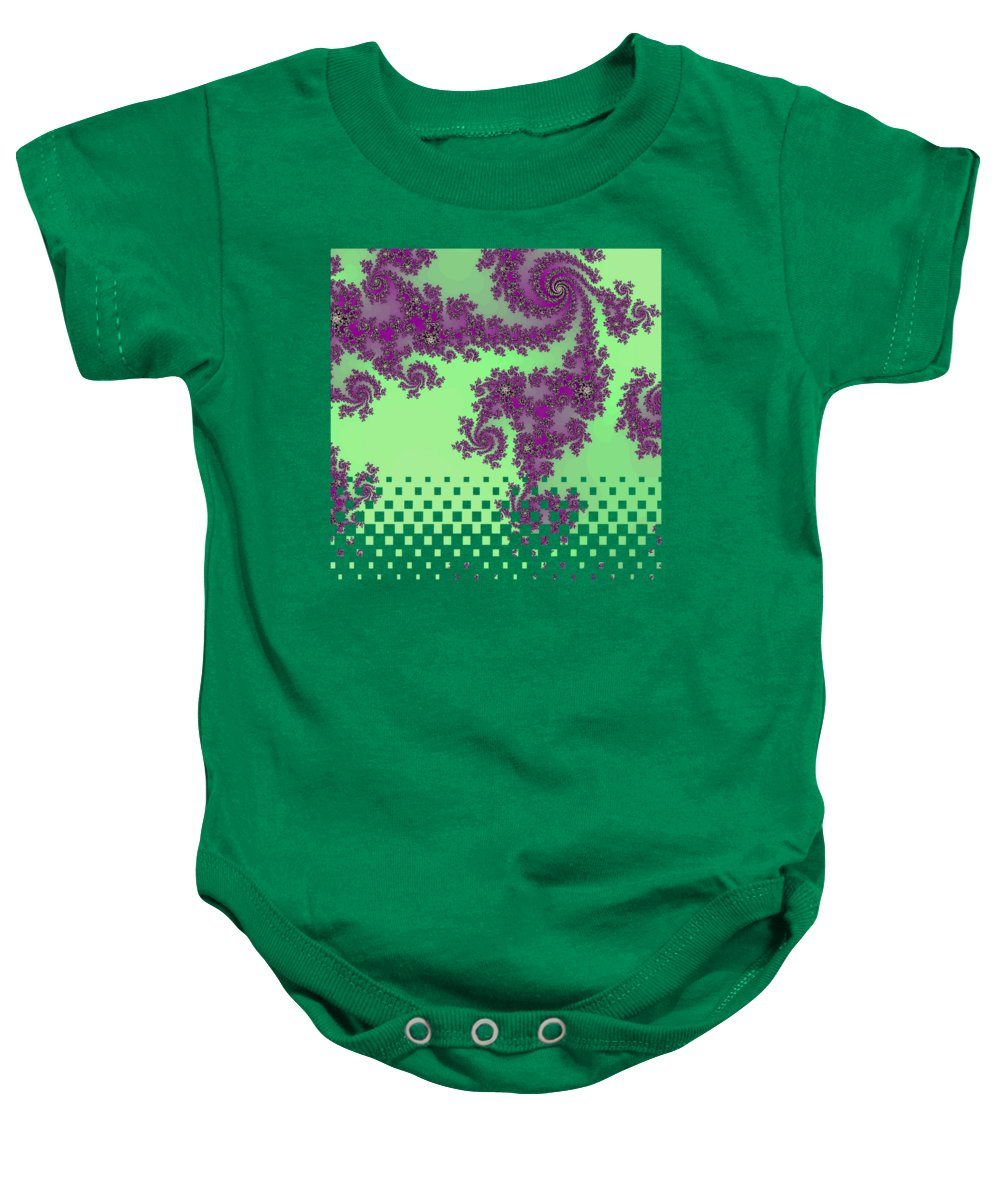 Purple Lace Baby Onesie featuring the digital art Purple Lace by Becky Herrera