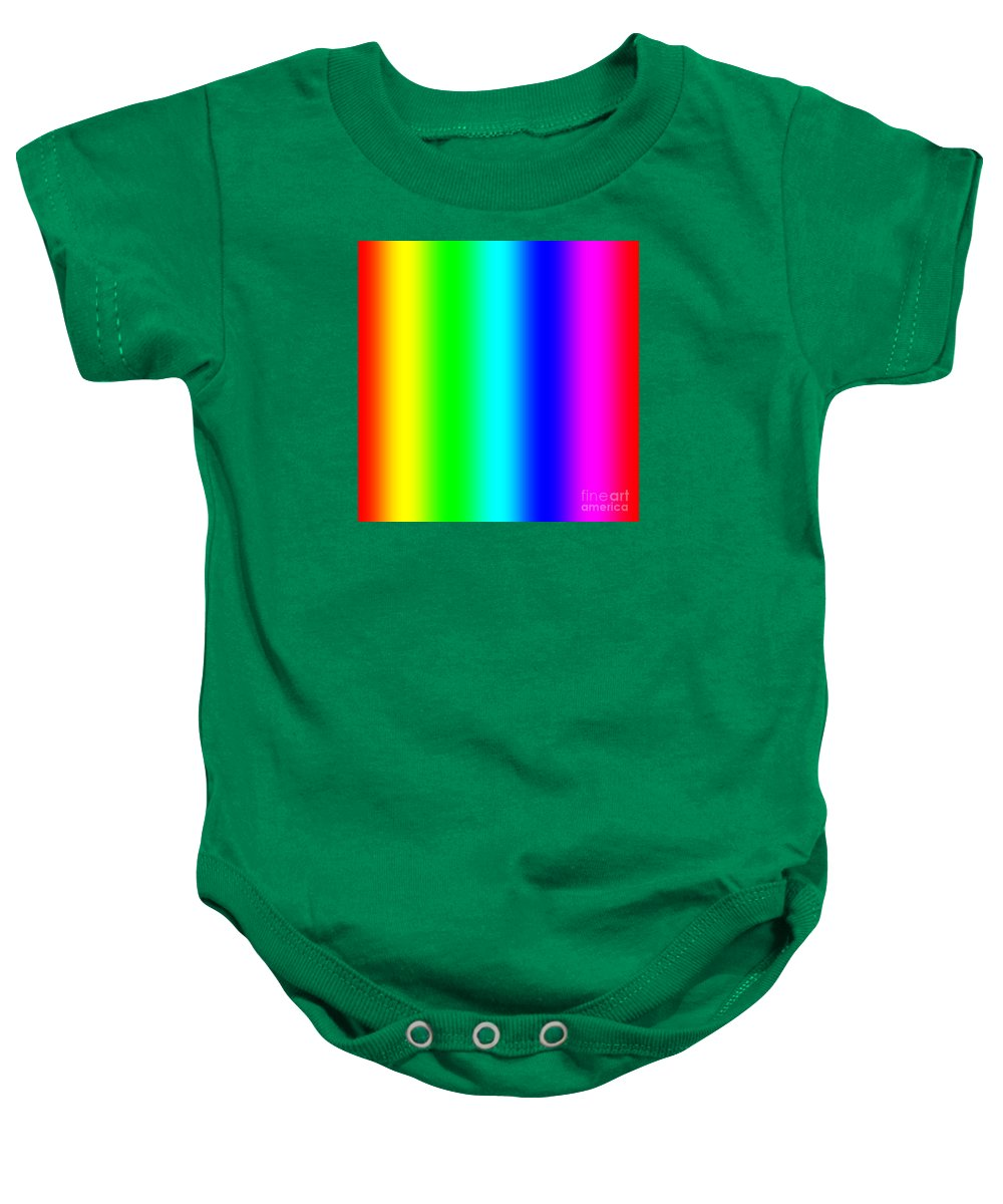 Abstract Baby Onesie featuring the digital art Rainbow by Miroslav Nemecek