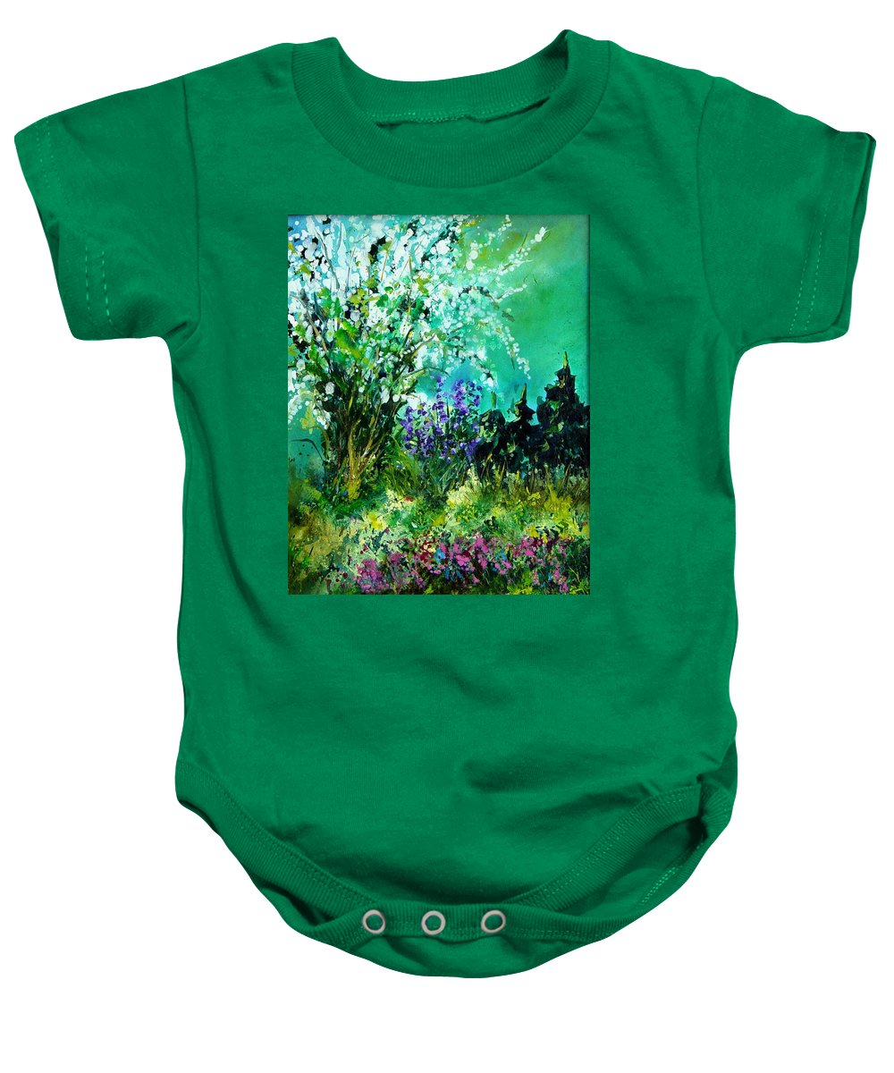 Tree Baby Onesie featuring the painting Seringa by Pol Ledent