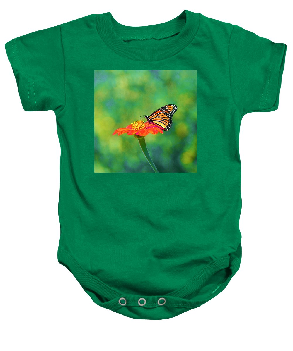 Monarch Baby Onesie featuring the photograph Small Wonders by Byron Varvarigos