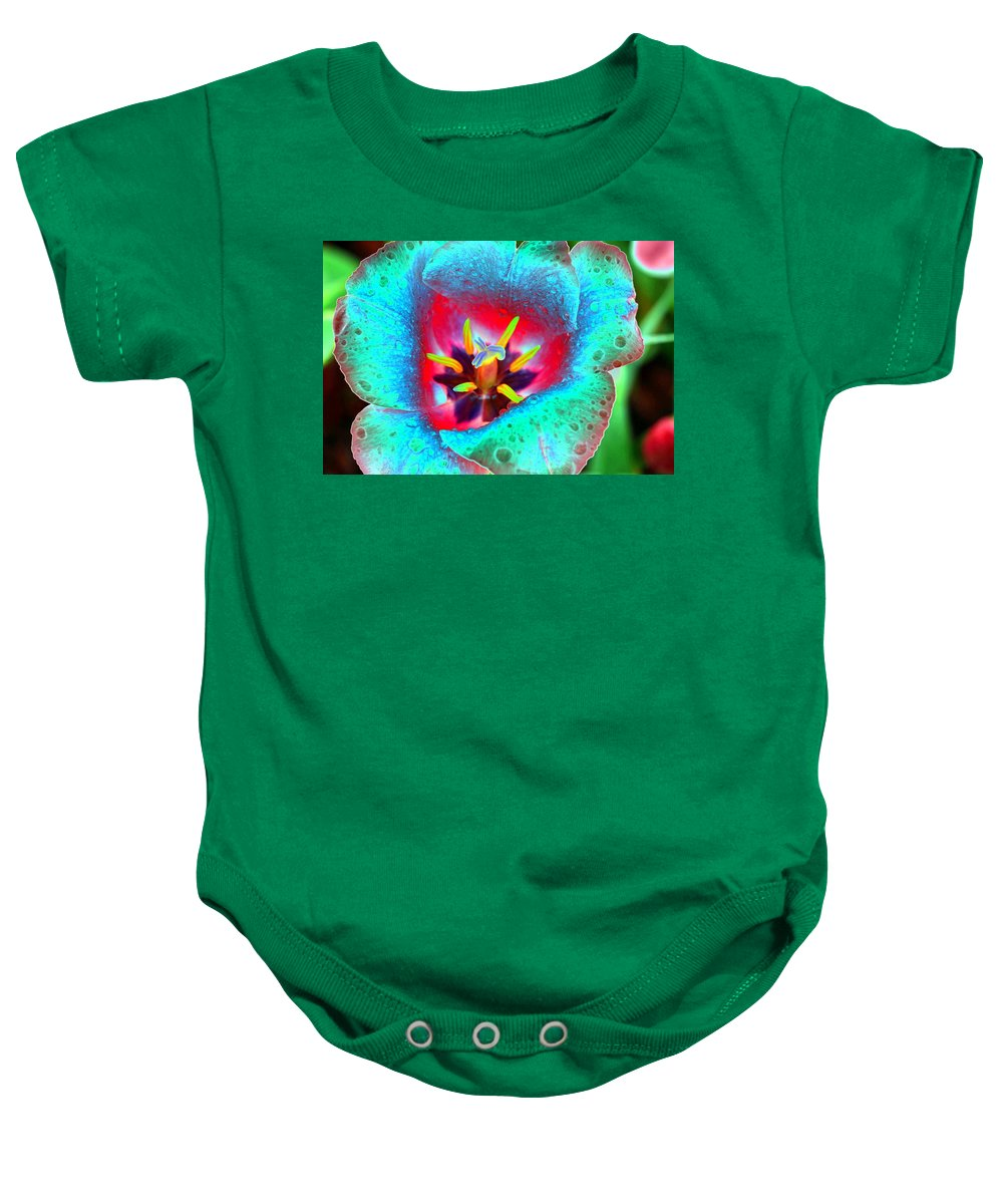 Tulip Baby Onesie featuring the photograph Spring Tulips - Photopower 3131 by Pamela Critchlow