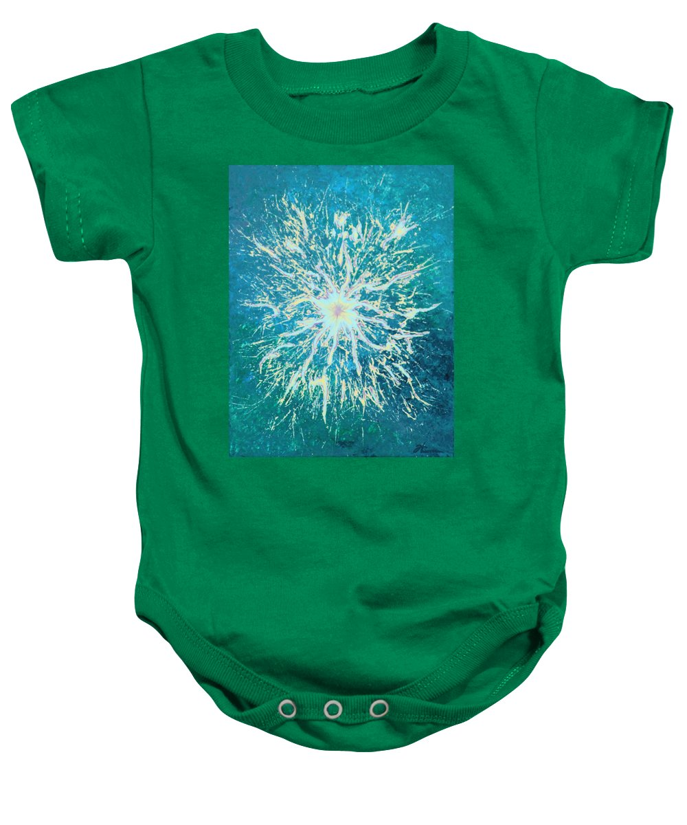 Acrylic Baby Onesie featuring the painting Static by Todd Hoover