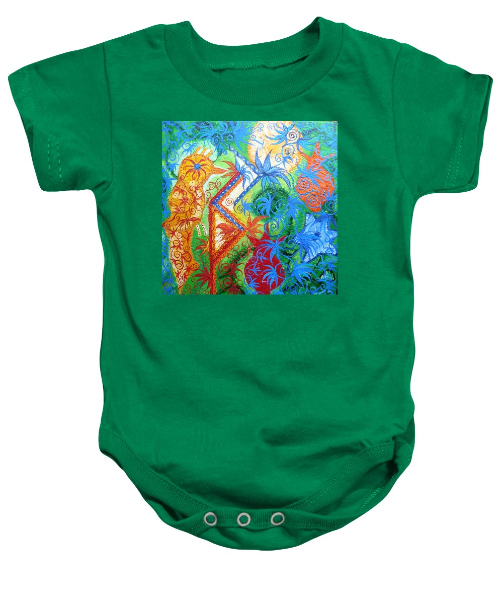 Runes Baby Onesie featuring the painting Success From Project by Joanna Pilatowicz