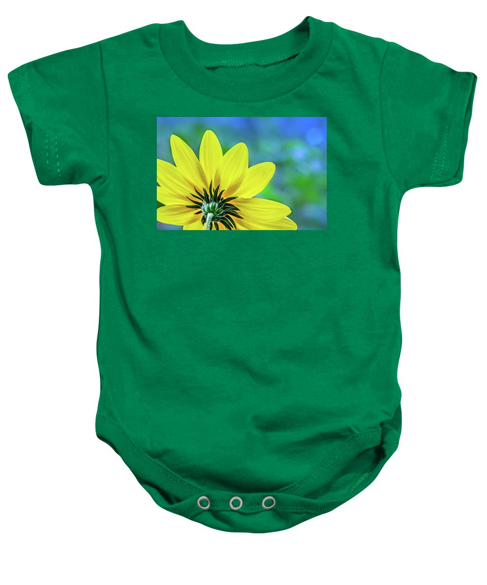 Yellow Flower Baby Onesie featuring the photograph Sunny Outlook by Michael Arend