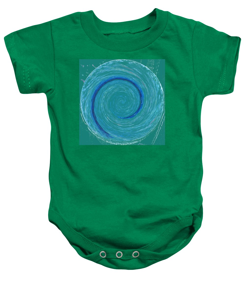 Abstract Baby Onesie featuring the digital art The Center Of The Universe by Lenore Senior
