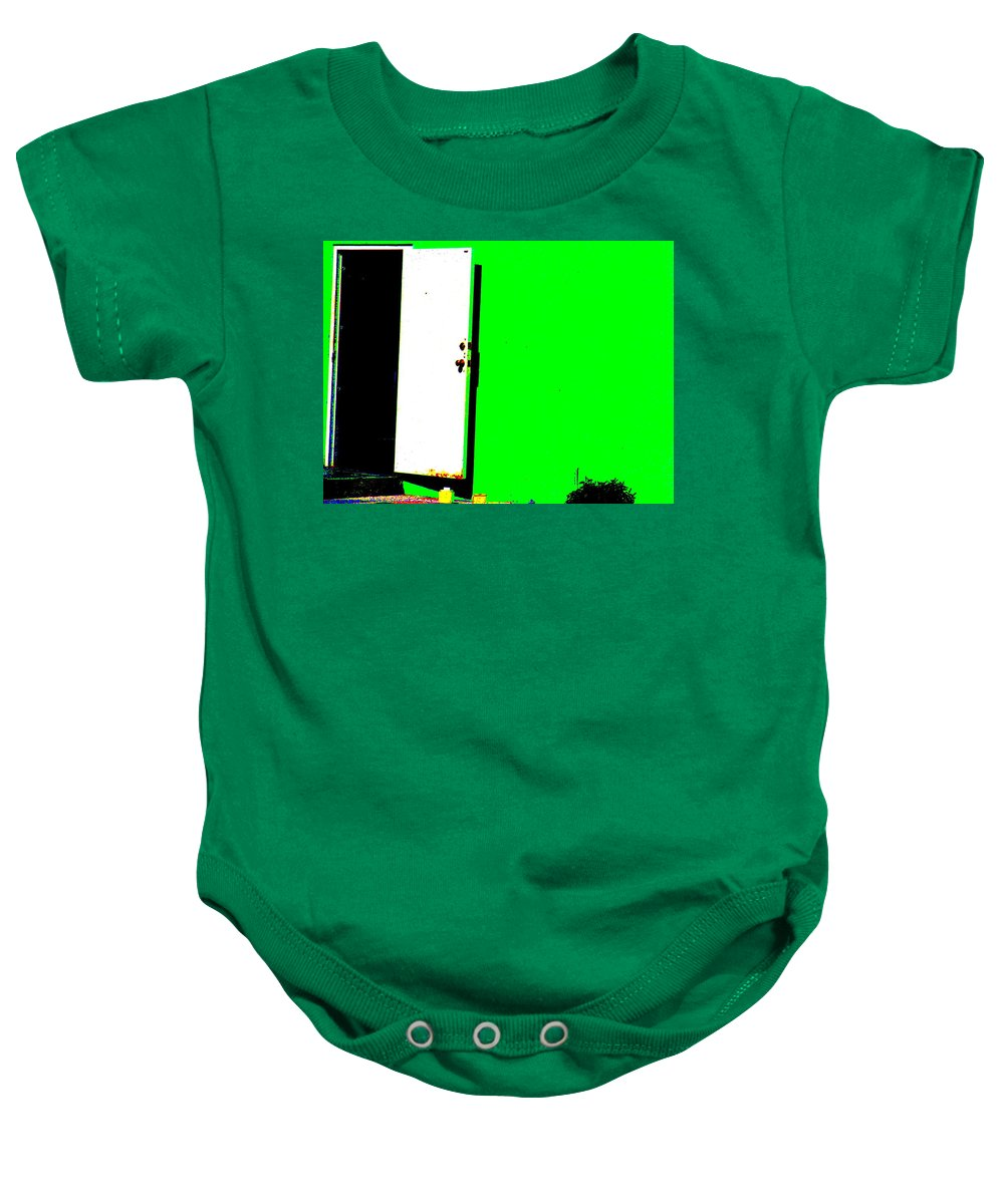 Still Life Baby Onesie featuring the photograph The Green Door by Ed Smith