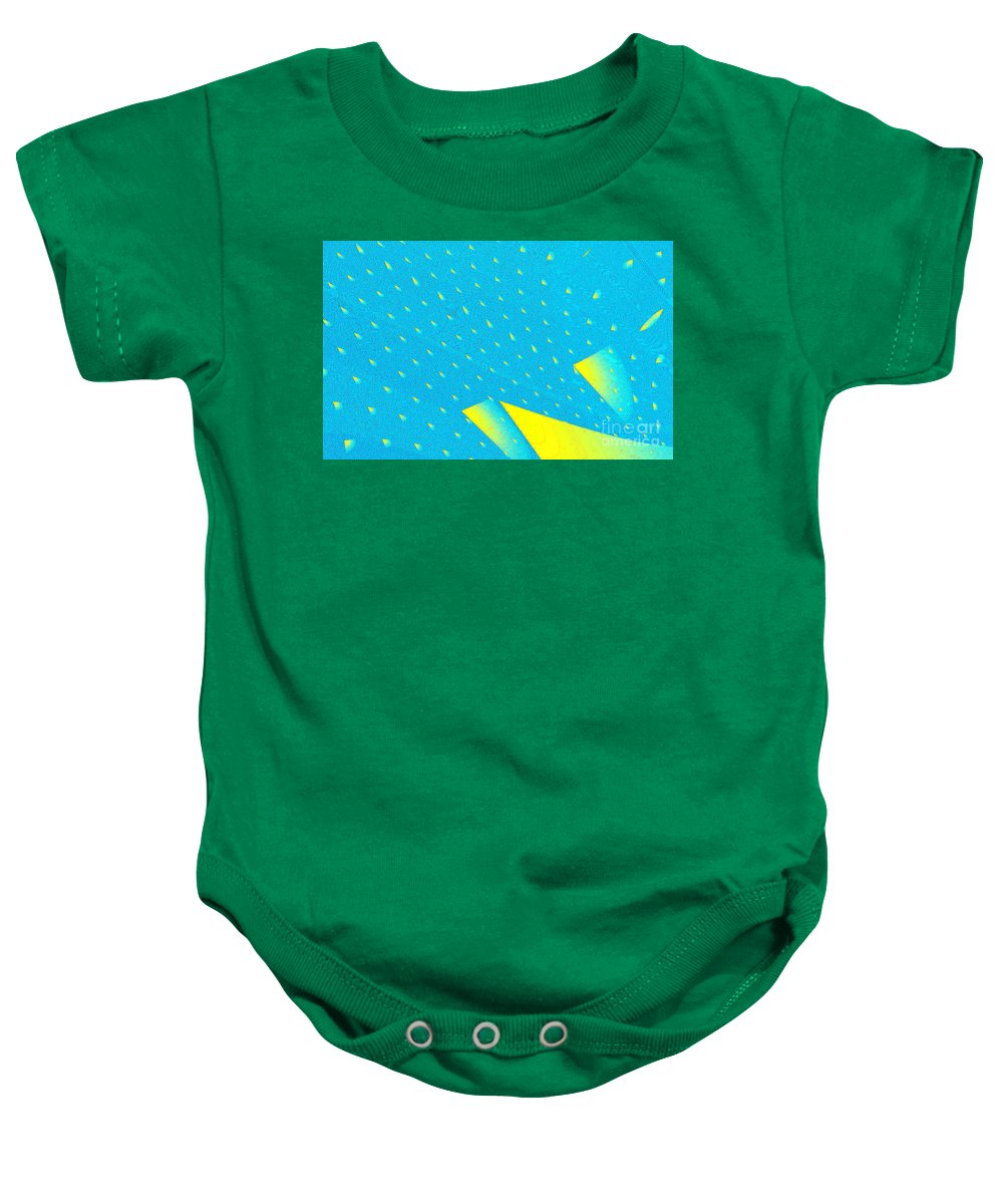 Clay Baby Onesie featuring the digital art The Illusion by Clayton Bruster