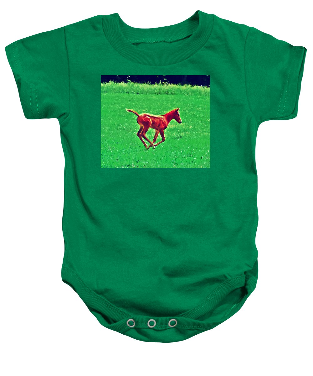 Philadelphia Baby Onesie featuring the photograph Thorobred by Bill Cannon