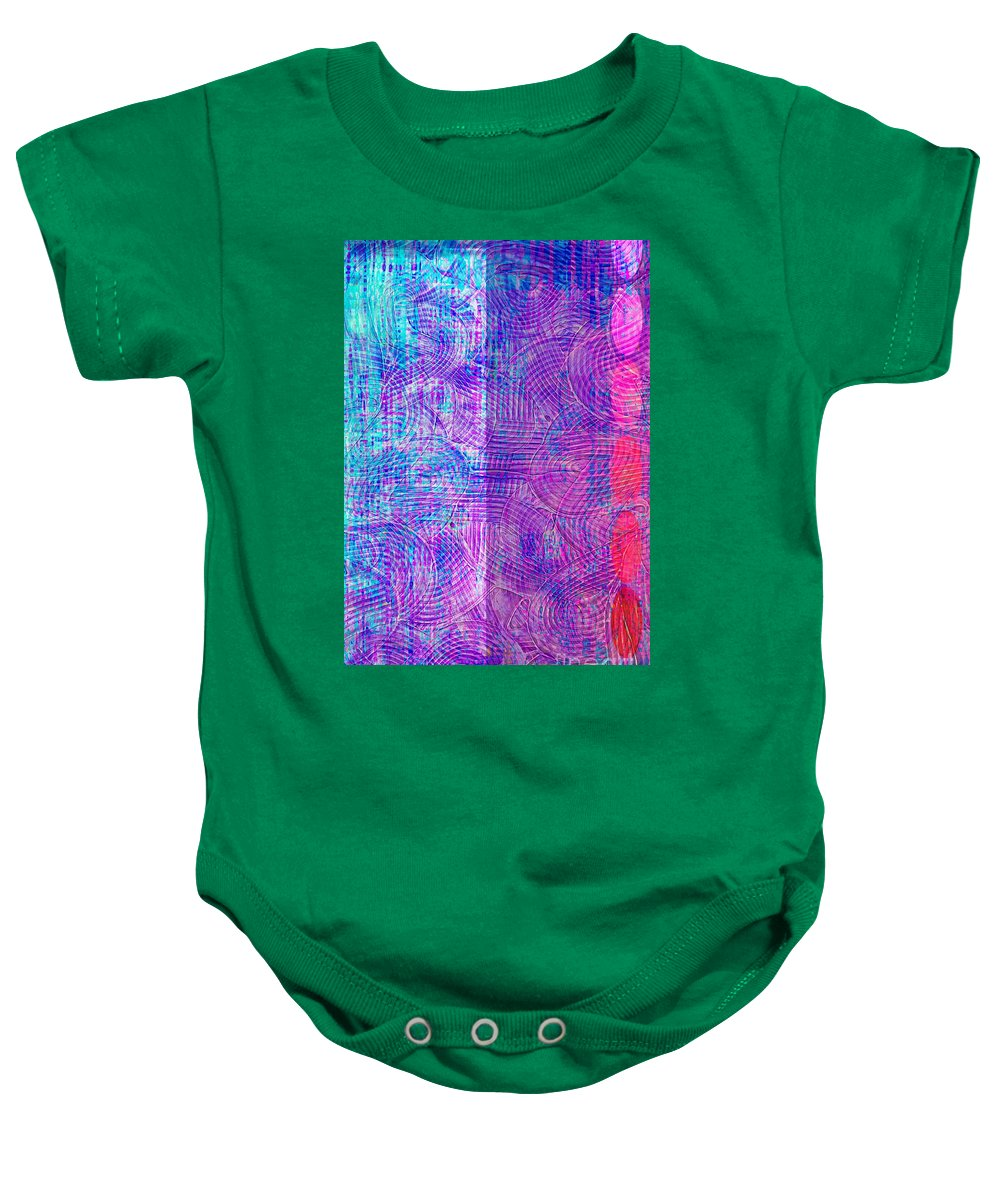 Abstract Acrylic Baby Onesie featuring the photograph Transchromigration #1 by Trent Jackson