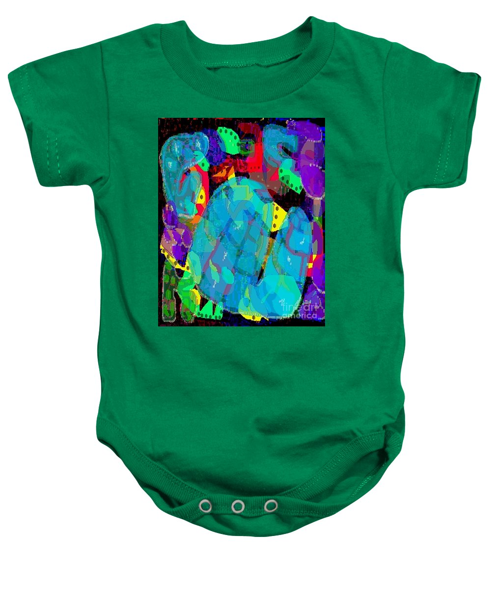 Digital Baby Onesie featuring the digital art Transparencies by Ron Bissett