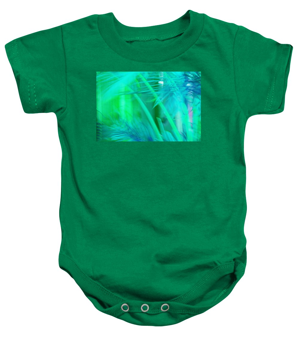 Abstract Baby Onesie featuring the photograph Tropical Dreams by Susanne Van Hulst