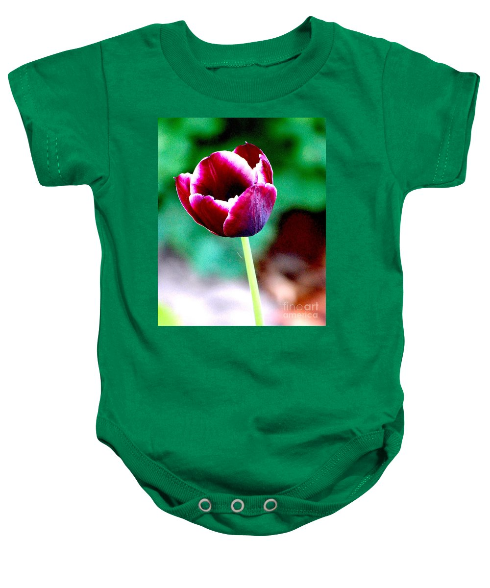 Digital Photo Baby Onesie featuring the photograph Tulip Me by David Lane