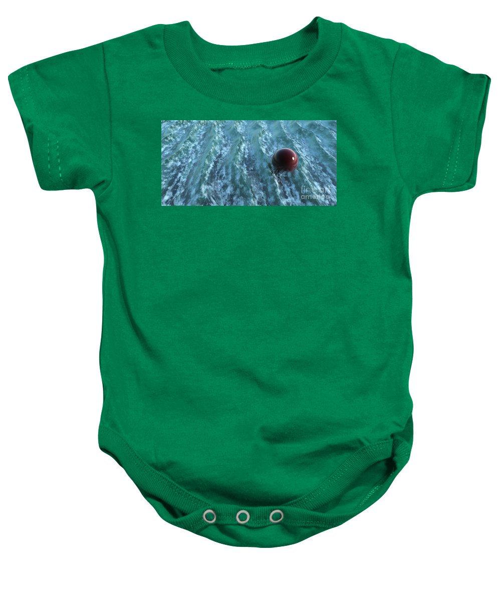 Waves Baby Onesie featuring the digital art Turbulence by Richard Rizzo