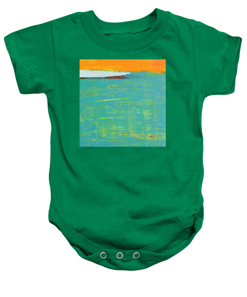 Abstract Baby Onesie featuring the painting Under The Pressure by Habib Ayat