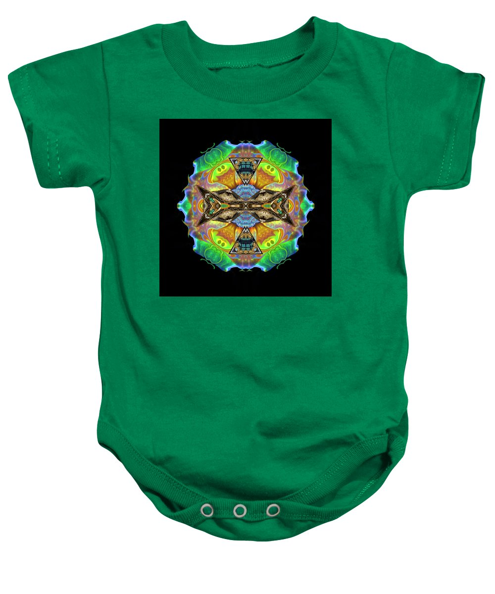 Baby Onesie featuring the digital art Variations #3 by Glen Faxon