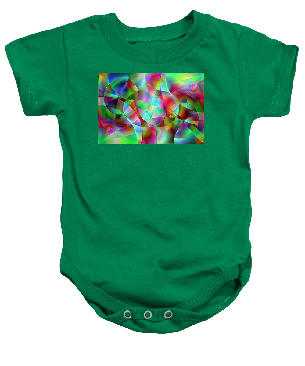 Colors Baby Onesie featuring the digital art Vision 27 by Jacques Raffin