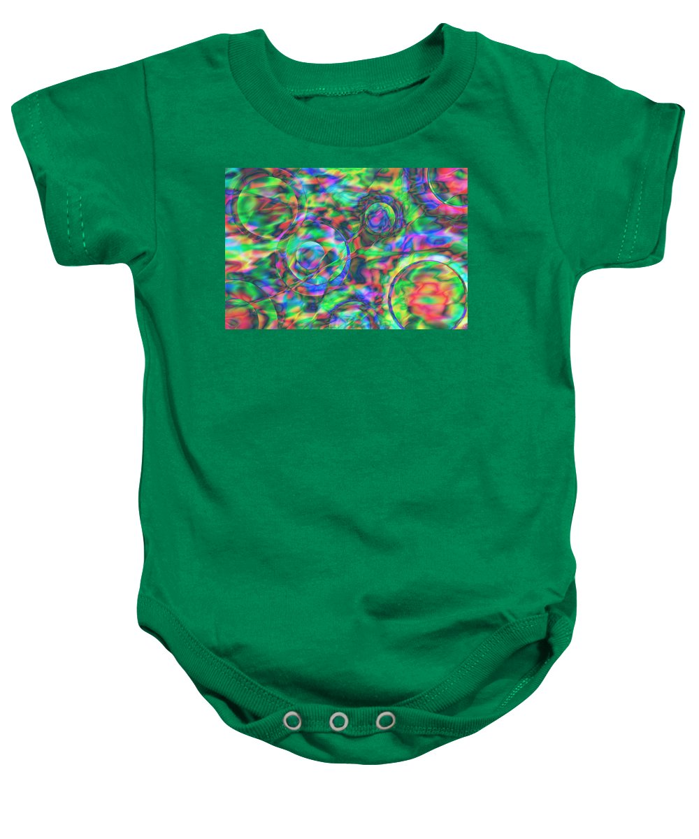 Colors Baby Onesie featuring the digital art Vision 28 by Jacques Raffin