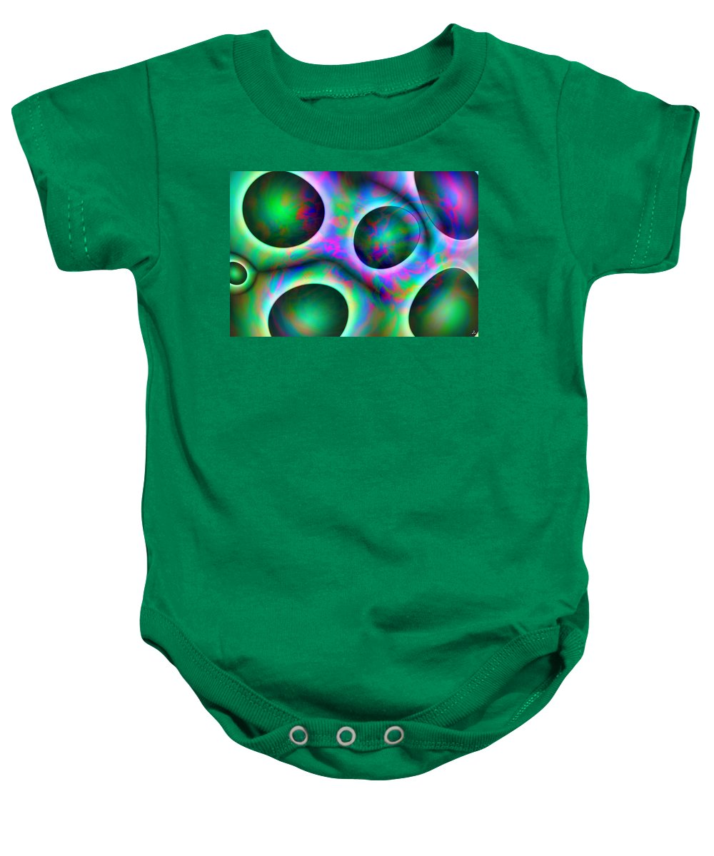 Colors Baby Onesie featuring the digital art Vision 30 by Jacques Raffin