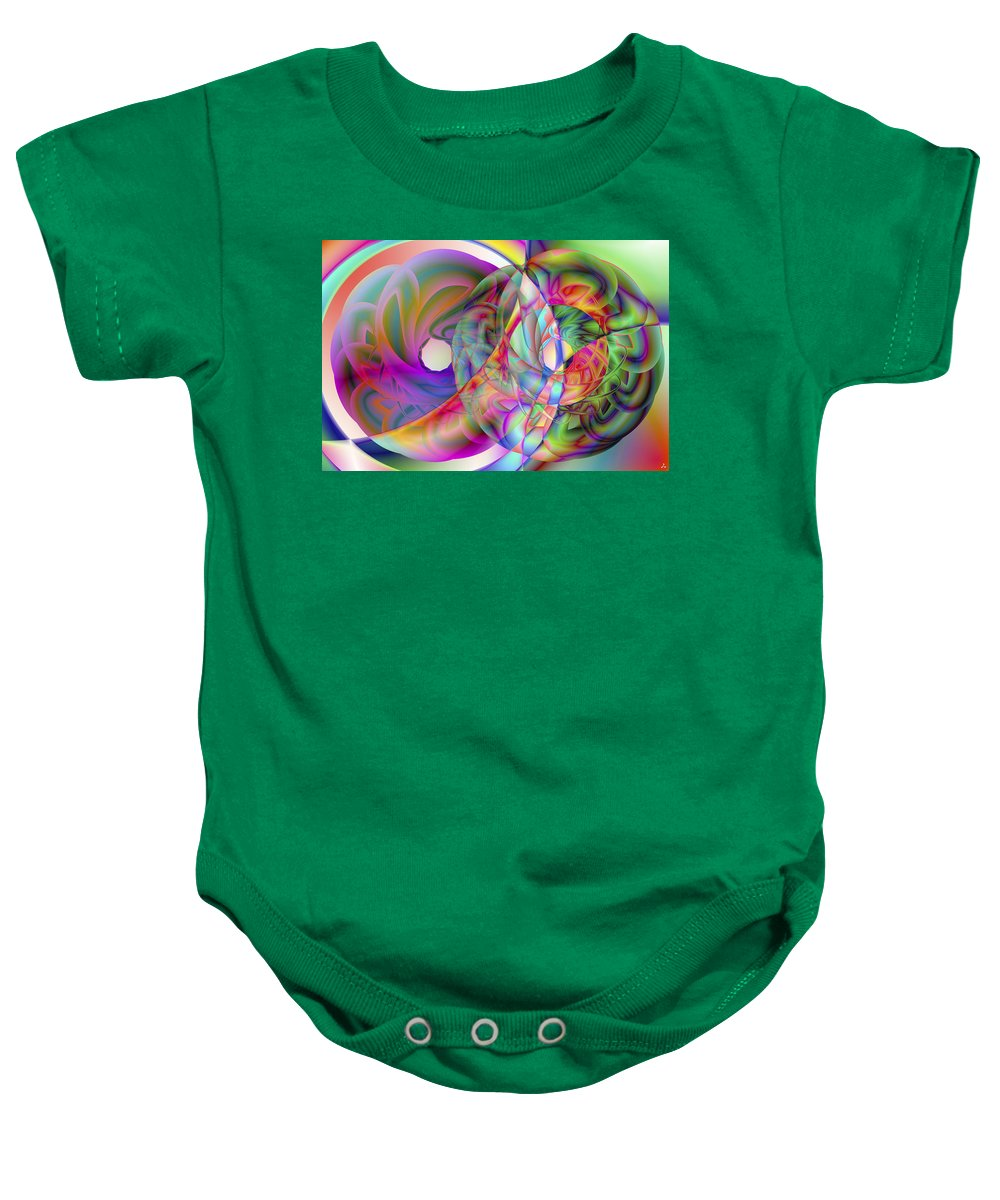 Crazy Baby Onesie featuring the digital art Vision 41 by Jacques Raffin