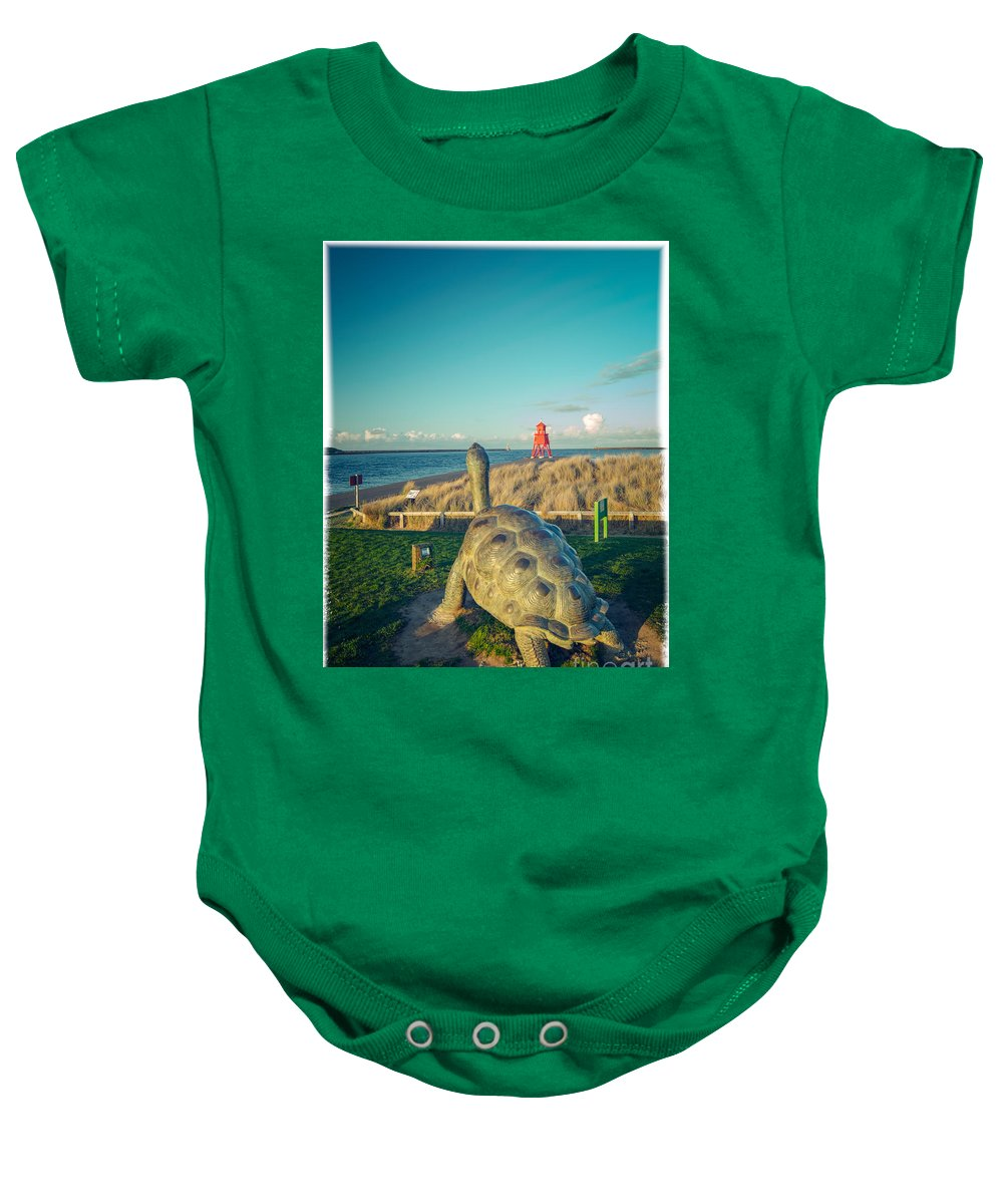 Collier Brigs Baby Onesie featuring the photograph Watching The Tyne by Andy Blakey