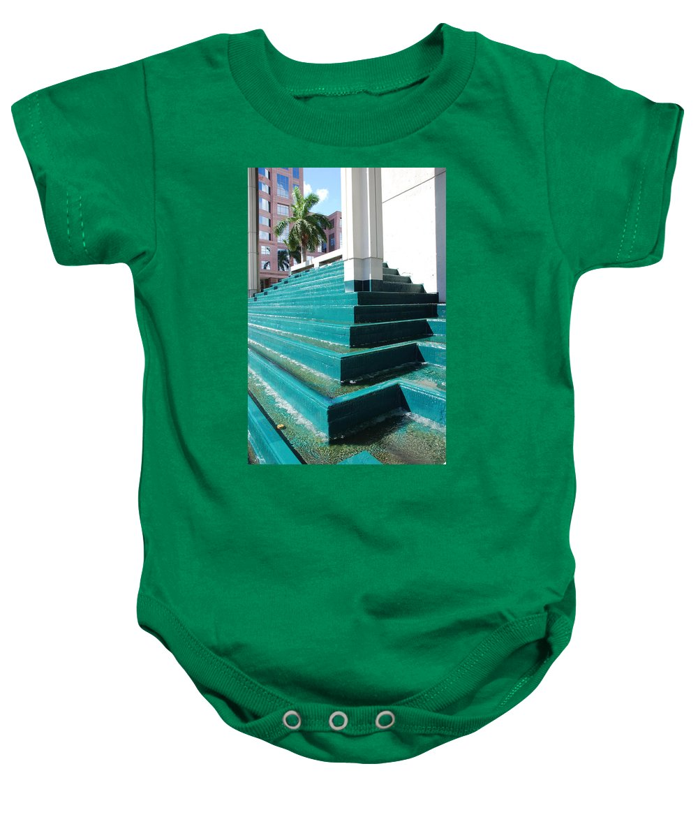 Architecture Baby Onesie featuring the photograph Water At The Federl Courthouse by Rob Hans