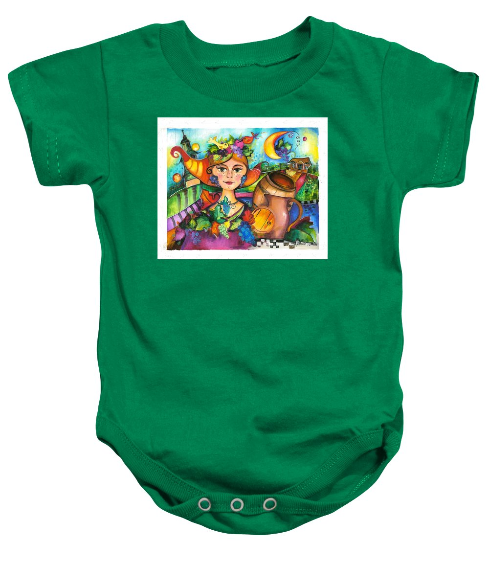 Painting Baby Onesie featuring the painting Winobranie by Sylwia Gromacka