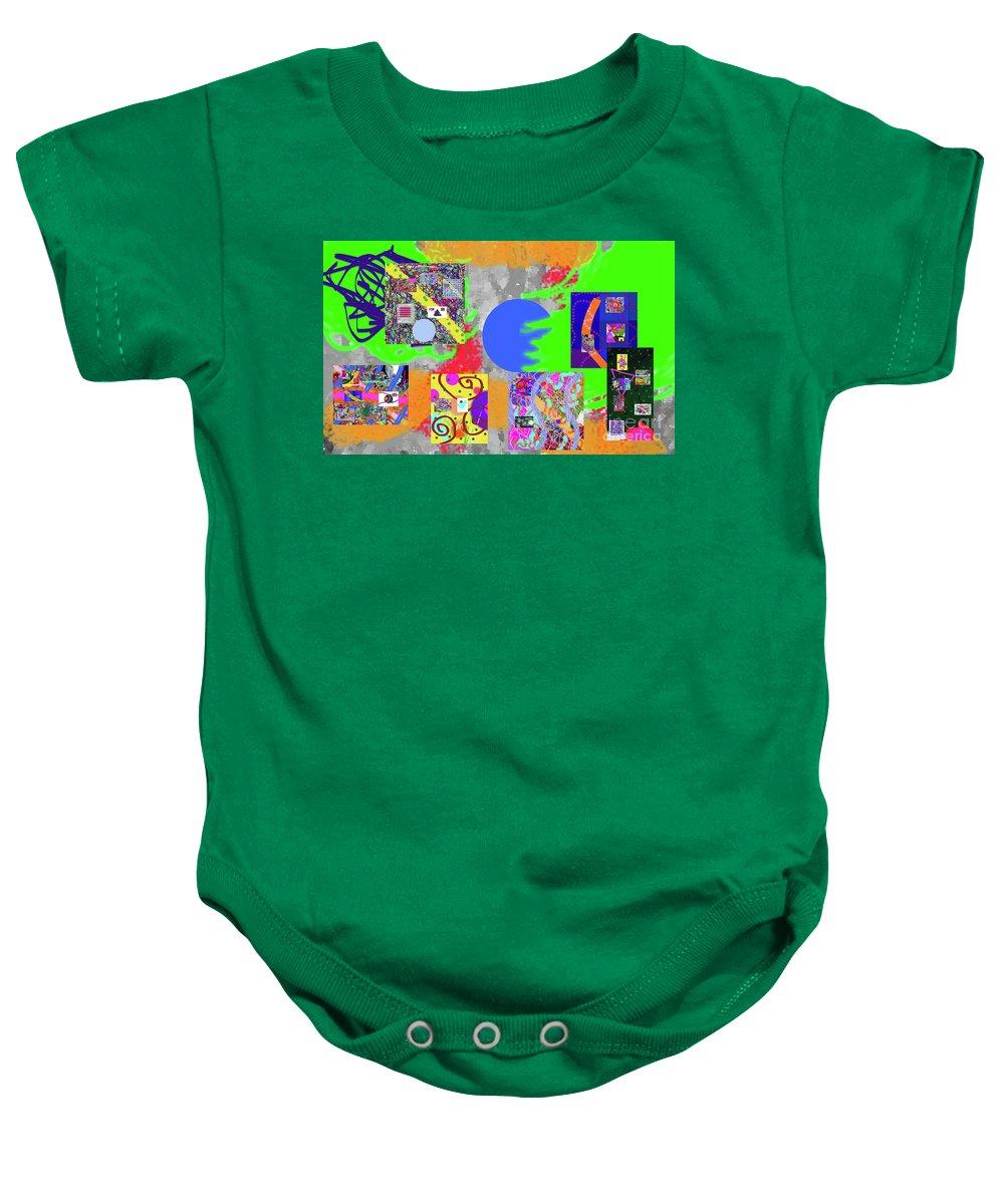 Walter Paul Bebirian Baby Onesie featuring the digital art 11-16-2015abcdefghijklmnopqrtuvwxyzabcd by Walter Paul Bebirian