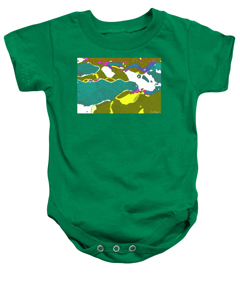 Flowers Baby Onesie featuring the digital art Steamboat Rock 09 by Bruce Whitaker