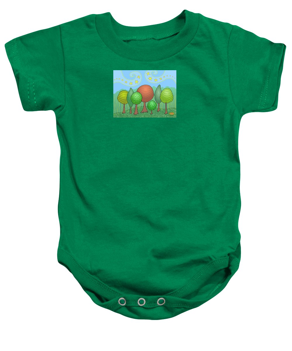 Family Baby Onesie featuring the digital art My Family by Susan Bird Artwork