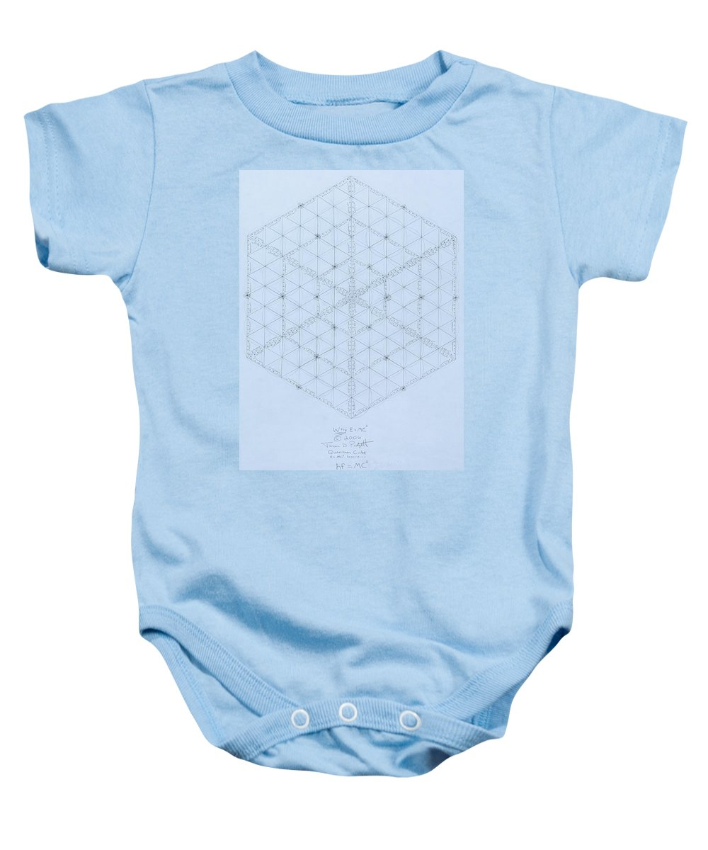 Energy Baby Onesie featuring the drawing Why Energy Equals Mass Times The Speed Of Light Squared by Jason Padgett