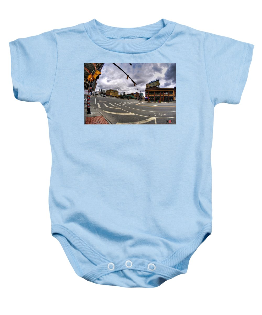 Michael Frank Jr Baby Onesie featuring the photograph 0027 Delaware And The Chipp Stripp by Michael Frank Jr