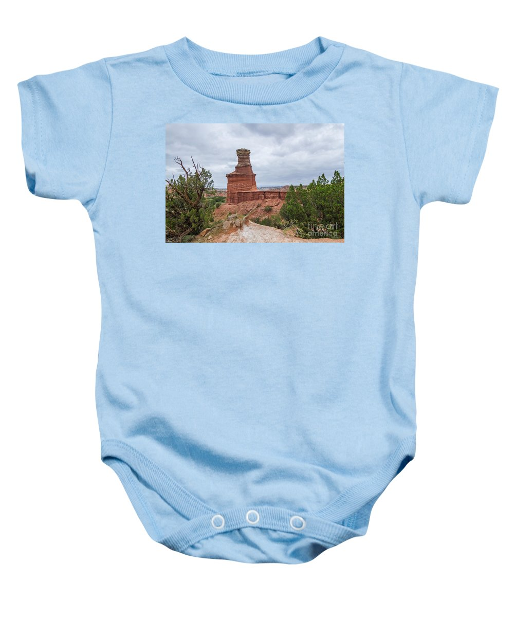 2014 Baby Onesie featuring the photograph 07.30.14 Palo Duro Canyon - Lighthouse Trail 62e by Ashley M Conger