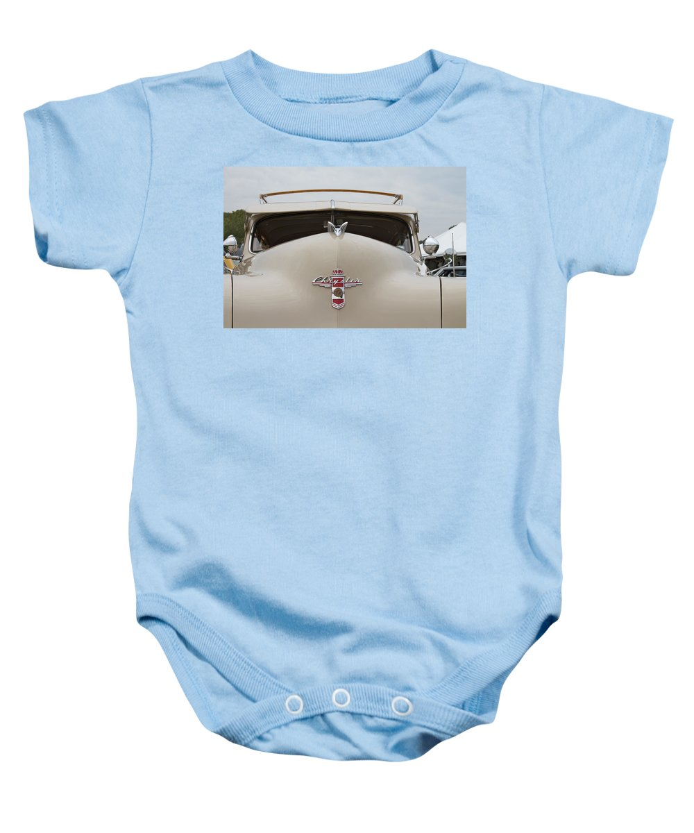 Antique Baby Onesie featuring the photograph 1947 Chrysler by Jack R Perry