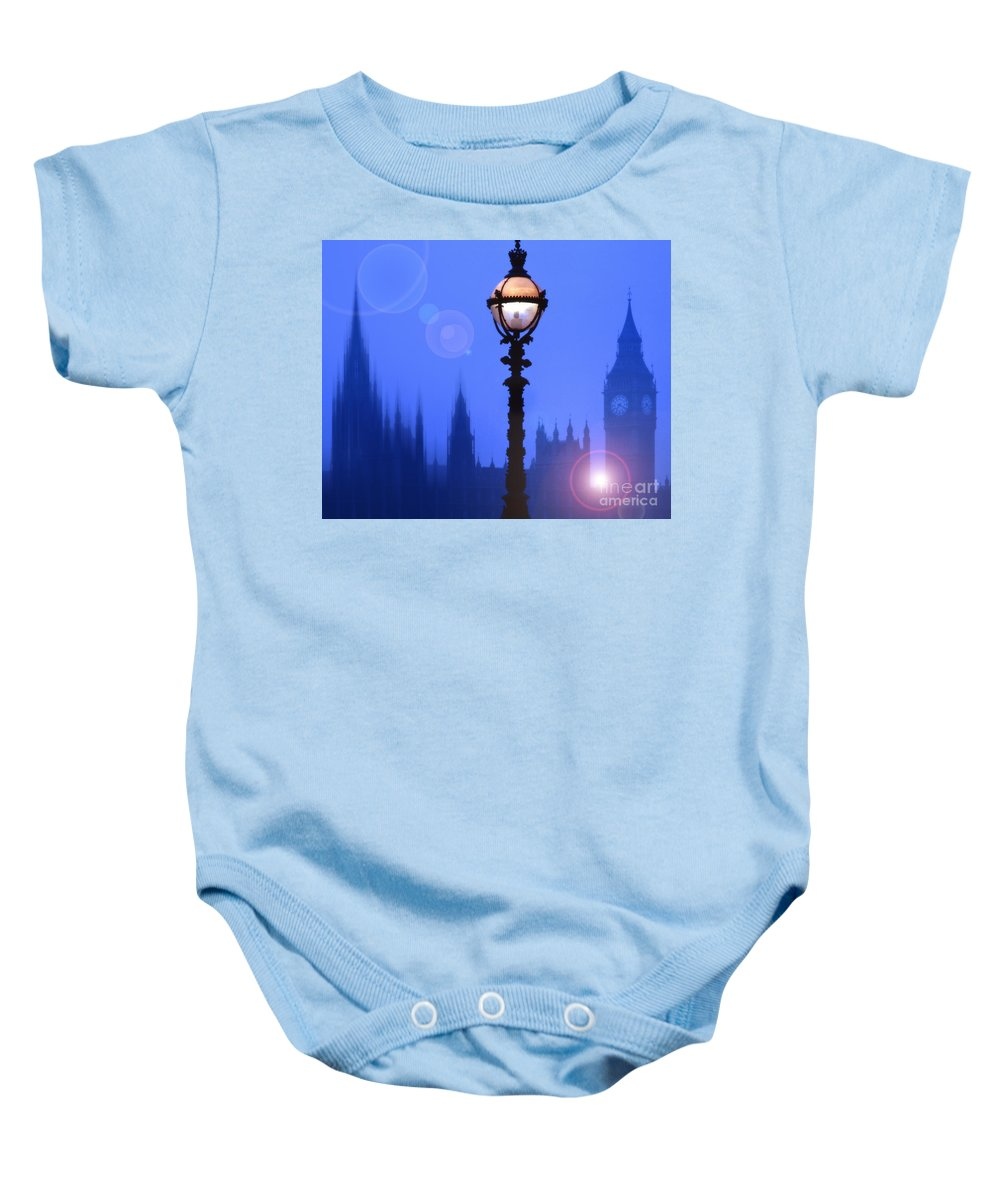 London Baby Onesie featuring the photograph As Night Falls by Edmund Nagele