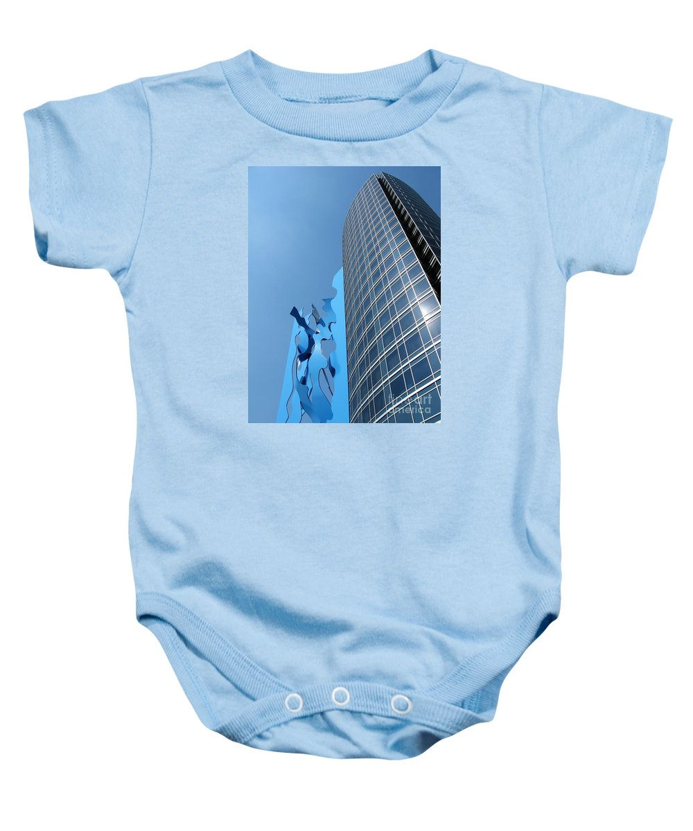 Art Baby Onesie featuring the photograph Blues by Ann Horn