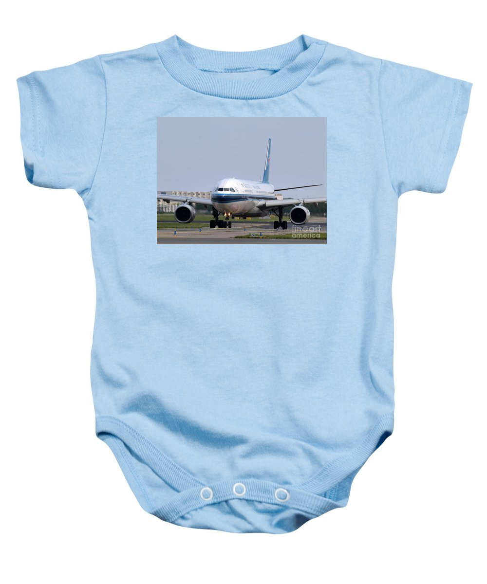 737 Baby Onesie featuring the photograph China Southern Airlines Airbus A330 by Paul Fearn