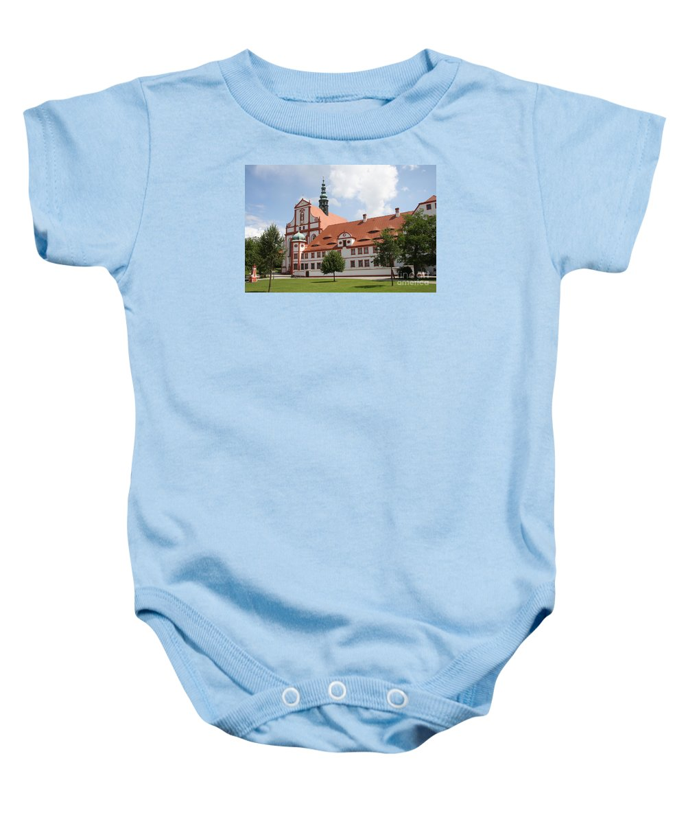Cloister Baby Onesie featuring the photograph Cloister St. Marienstern by Christiane Schulze Art And Photography
