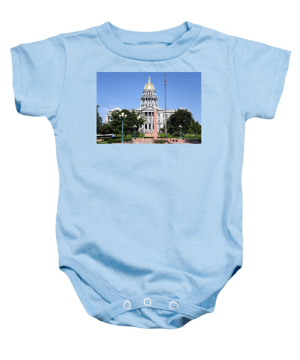 Capitol Building Baby Onesie featuring the photograph Colorado State Capitol Building Denver by Bill Cobb