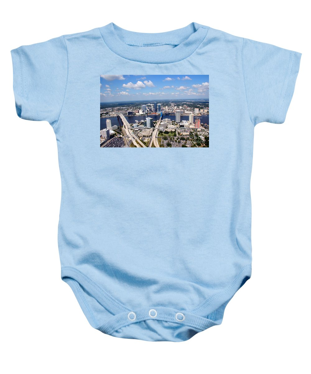 Florida Baby Onesie featuring the photograph Jacksonville Florida by Bill Cobb