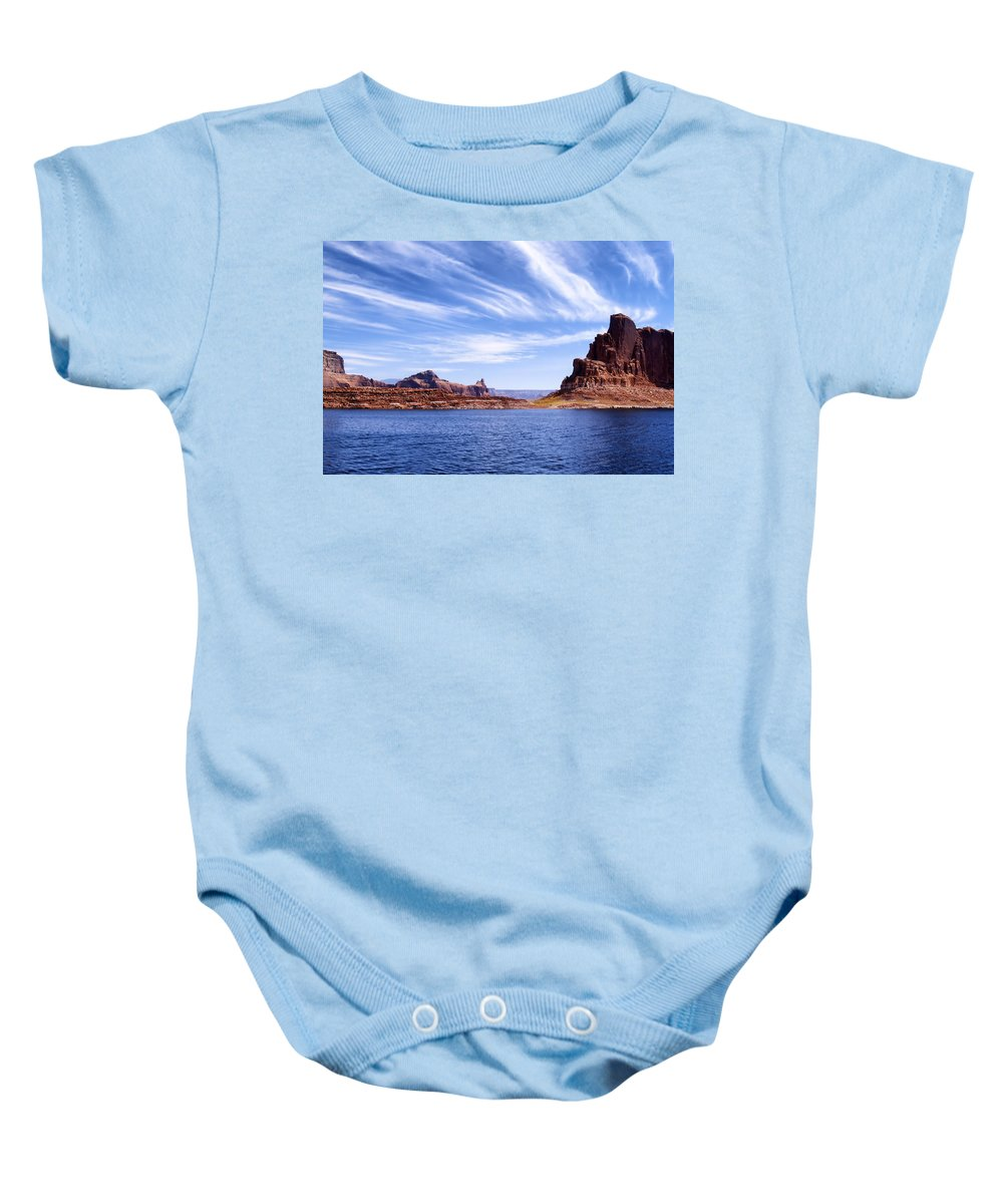 Lake Powell Baby Onesie featuring the photograph Lake Powell by Mountain Dreams