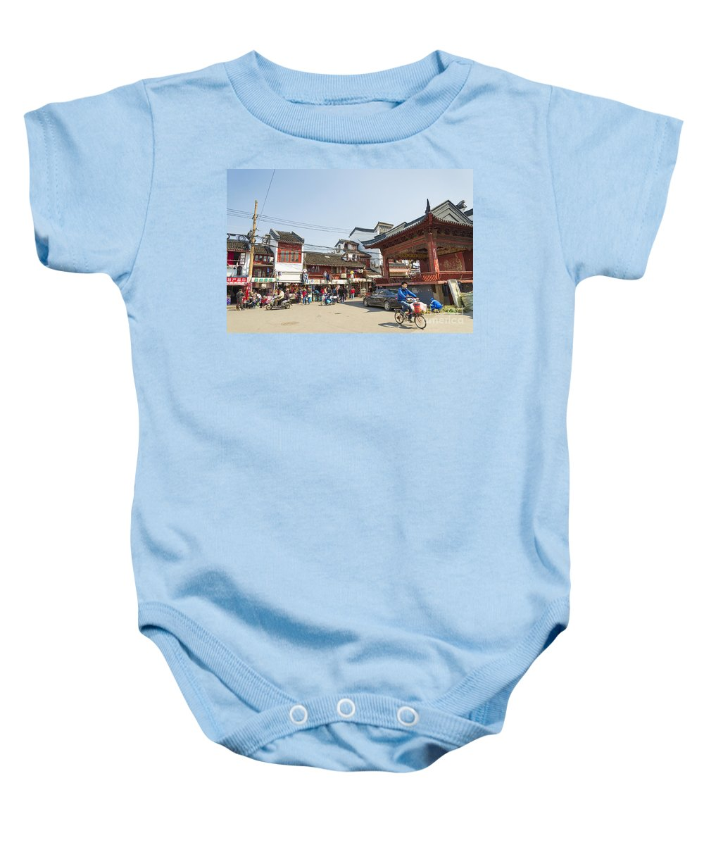 Architecture Baby Onesie featuring the photograph Old Town Of Shanghai China by Jacek Malipan