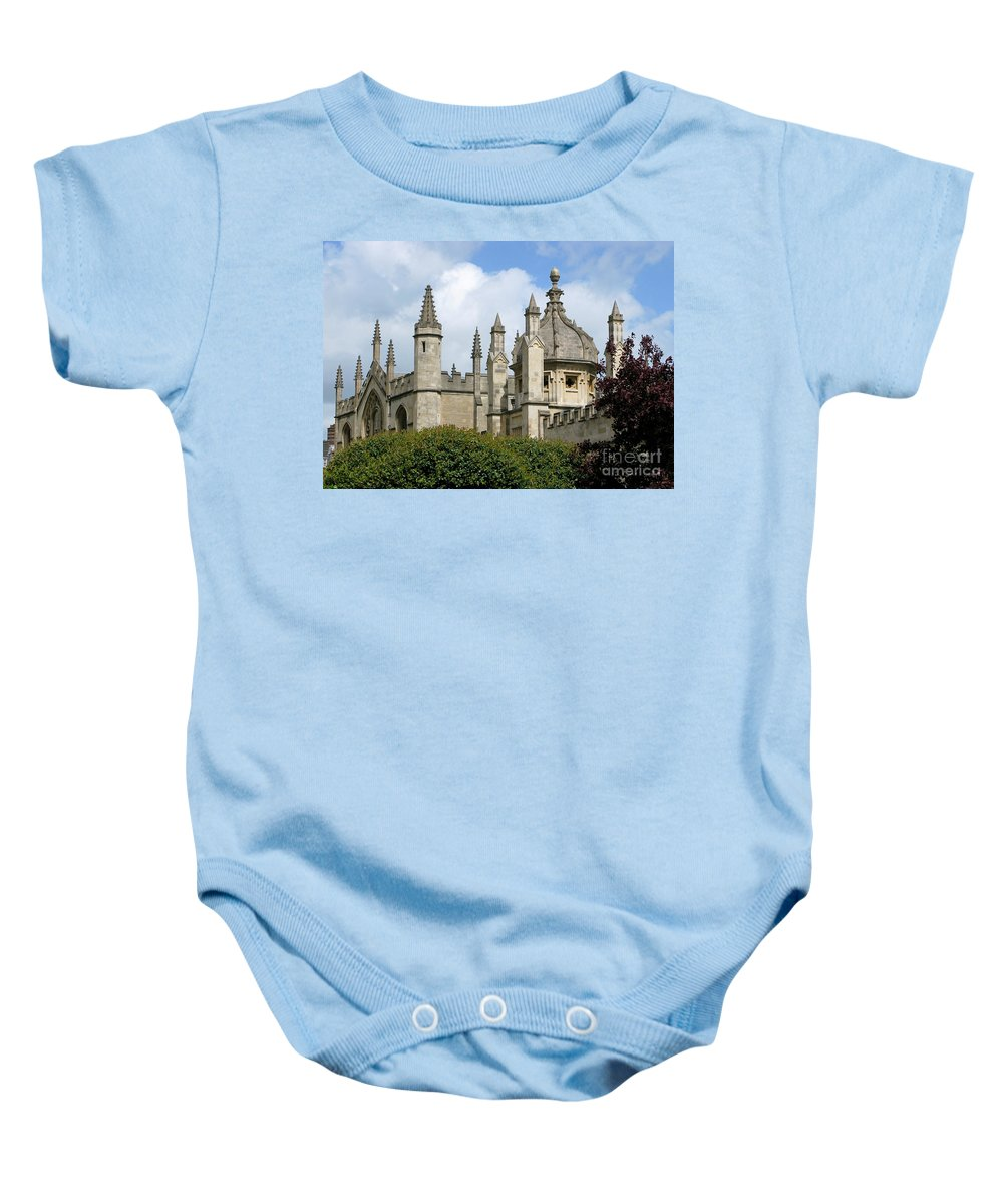 Oxford Baby Onesie featuring the photograph Oxford Spires by Ann Horn