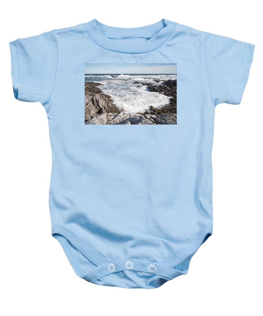 Feb0514 Baby Onesie featuring the photograph Rocky Coast Kejimkujik Np Nova Scotia by Scott Leslie