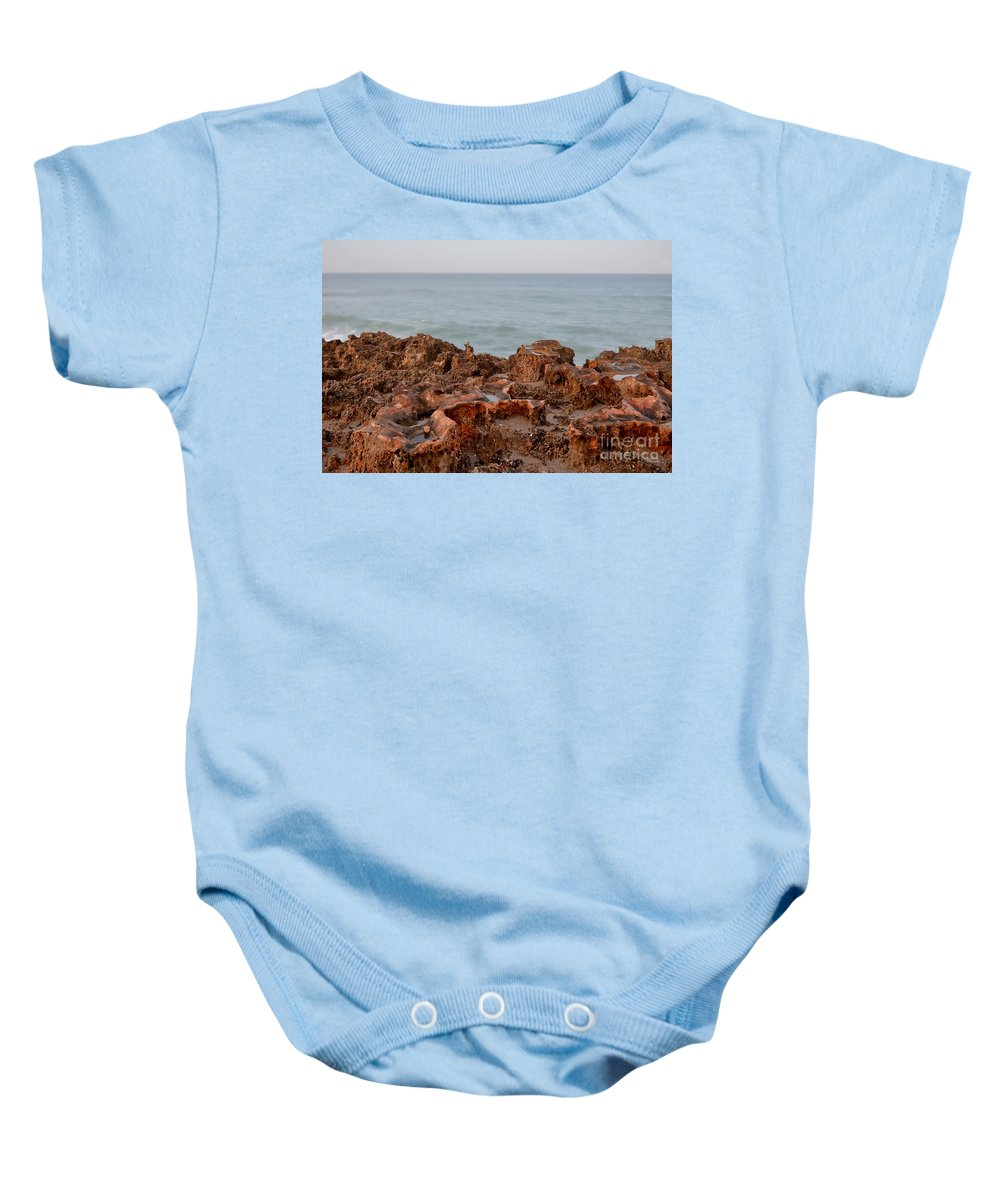 Seascape Baby Onesie featuring the photograph Ross Witham Beach Hutchinson Island Martin County Florida by Olga Hamilton