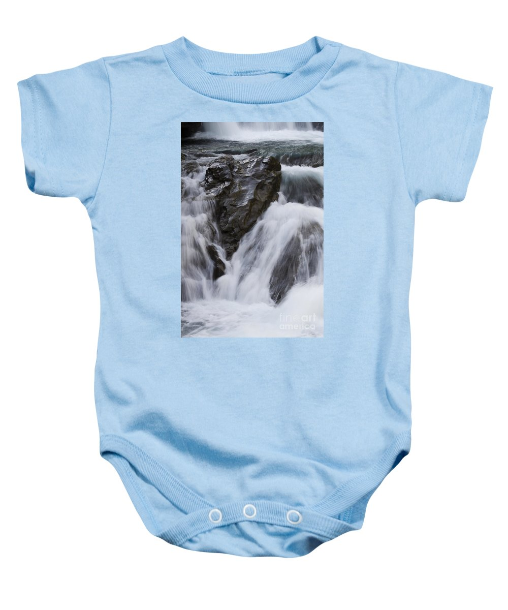 Sheep River Baby Onesie featuring the photograph Run River Run 3 by Bob Christopher
