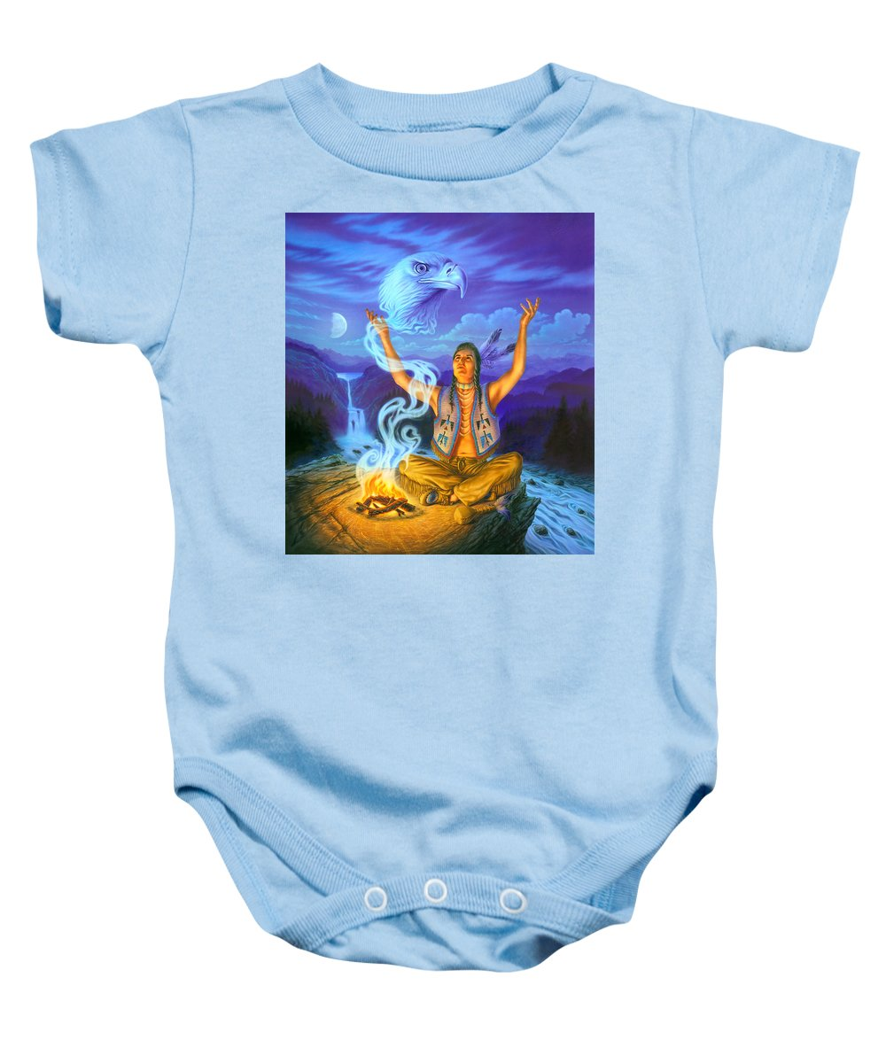 Adult Baby Onesie featuring the photograph Spirit Of The Eagle by Andrew Farley
