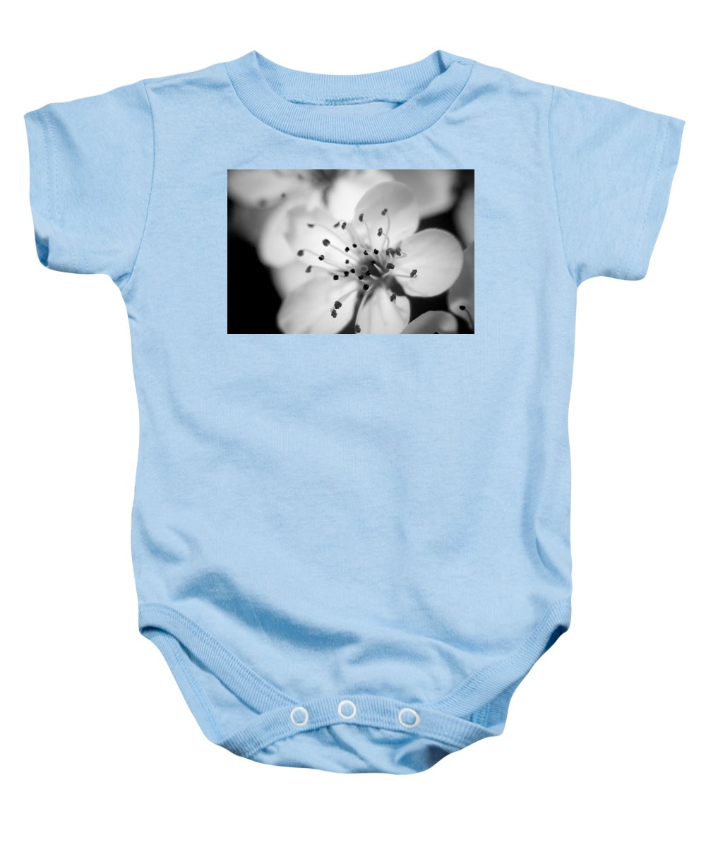 B&w Baby Onesie featuring the photograph Spring Blooms 6692 by Timothy Bischoff